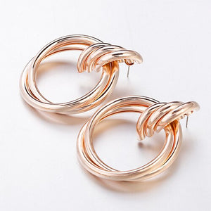 Hollow Round Alloy Drop Earring - My eTech