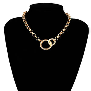 Double Round Circle Lasso Necklace - My eTech