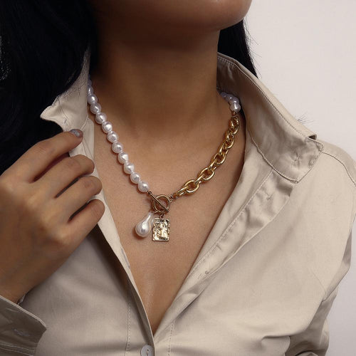 Baroque Pearl Angel Pendant Necklace - My eTech
