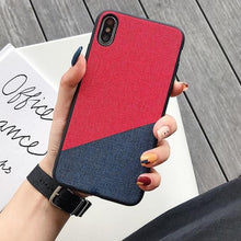 Load image into Gallery viewer, Fabric Cloth Phone Case for iPhone - My eTech