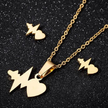Load image into Gallery viewer, Butterfly Charms Necklace &  Earrings - My eTech