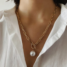 Load image into Gallery viewer, Big Bead  Pearl Pendant Necklace - My eTech