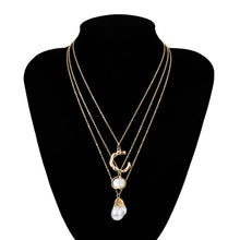 Load image into Gallery viewer, Layered  Pearl Necklace - My eTech
