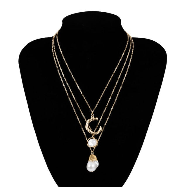 Layered  Pearl Necklace - My eTech