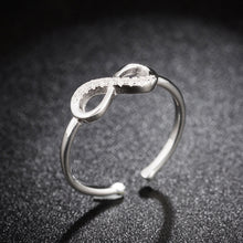 Load image into Gallery viewer, Silver Crystal Infinity Ring - My eTech