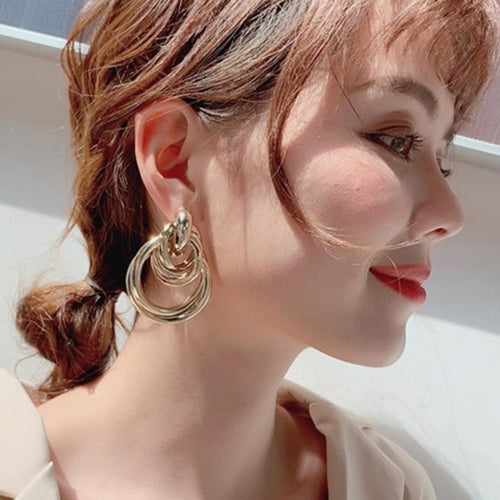 3 Color Big Alloy Earring