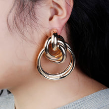 Load image into Gallery viewer, 3 Color Big Alloy Earring - My eTech