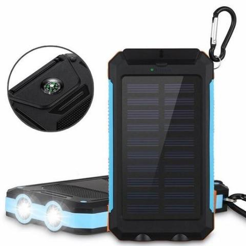 Outdoor Solar Powerbank 20000 mAh Dual USB with Light Lamp - My eTech