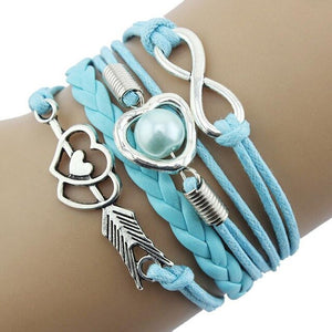 Infinity Fashion Leather Braided Bracelet - My eTech