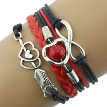 Laden Sie das Bild in den Galerie-Viewer, Infinity Fashion Leather Braided Bracelet - My eTech
