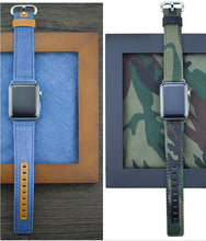 Cargar imagen en el visor de la galería, Denim & Leather Bands for Apple Watch - My eTech