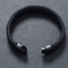 Load image into Gallery viewer, Black Brown Leather Rope Bracelet - My eTech