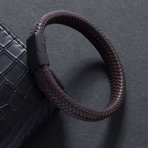 Black Brown Leather Rope Bracelet - My eTech