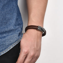 Load image into Gallery viewer, Braided Leather Bracelet - My eTech