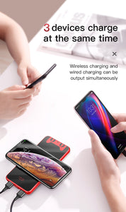 10000mah Qi Wireless Charger Power Bank - My eTech