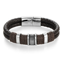 Load image into Gallery viewer, Leather Bracelet Rope Chain with Magnetic Clasp - My eTech