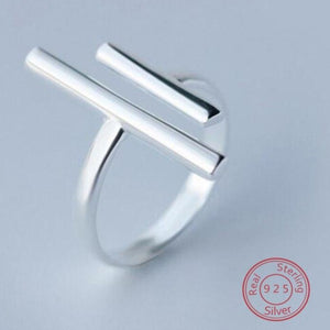 Silver Long Bar Open Finger Ring - My eTech