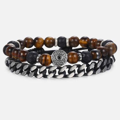 Natural Tiger Eye Stone Beaded Bracelet - My eTech