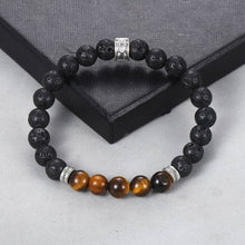 Load image into Gallery viewer, Natural Tiger Eye Stone Beaded Bracelet - My eTech