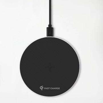 Stealth 10W Qi Certified Wireless Fast Charger - Midnight Black Edition