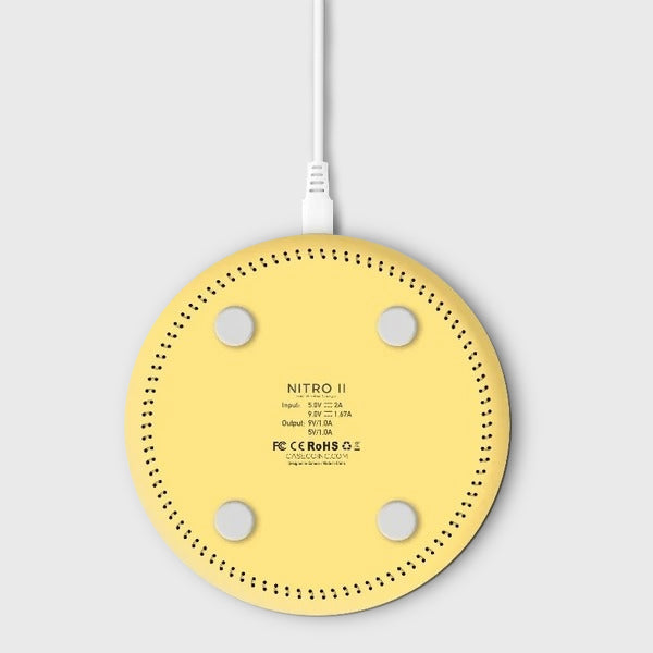 Nitro II Wireless Charging Pad - Wireless Charger - Yellow