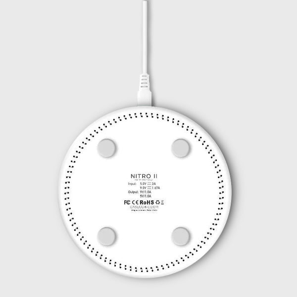 Nitro II Wireless Charging Pad - Wireless Charger - White