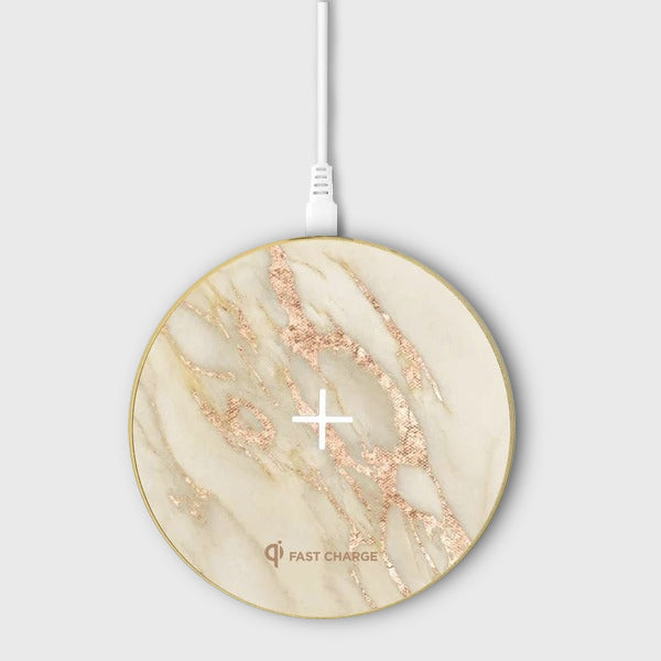 Apollo Marble Aluminium Wireless Charging Pad - Wireless Charger - Gold