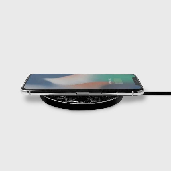 Apollo Marble Aluminium Wireless Charging Pad - Wireless Charger - Black