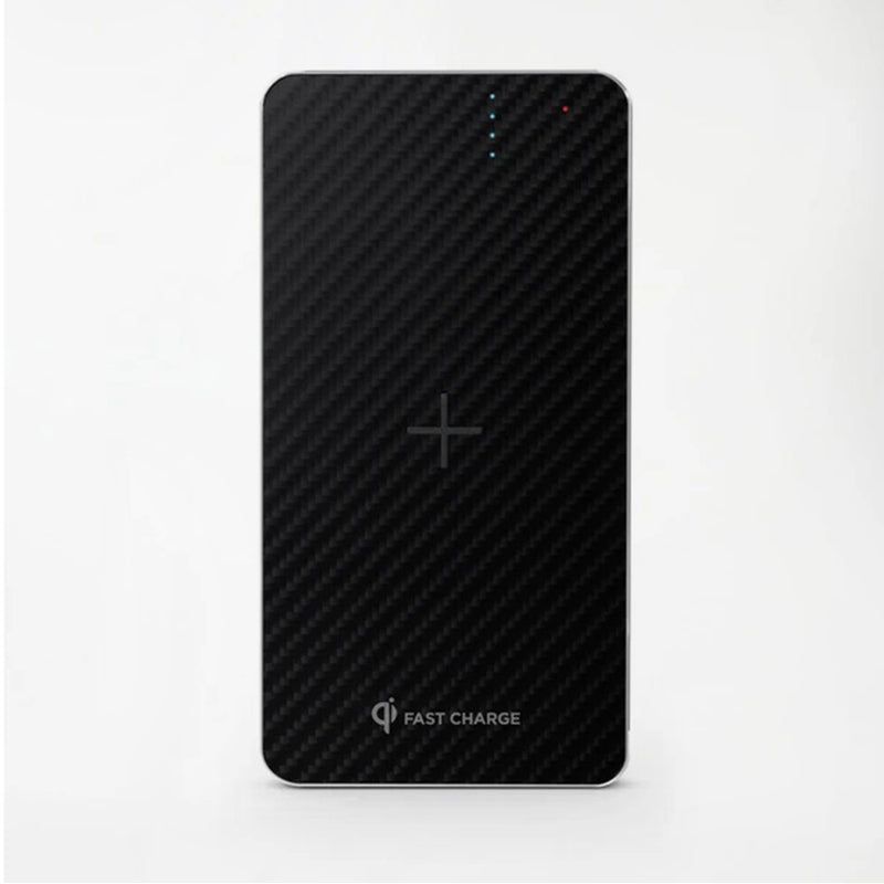 8000mAh Wireless Charging Power Bank - Black
