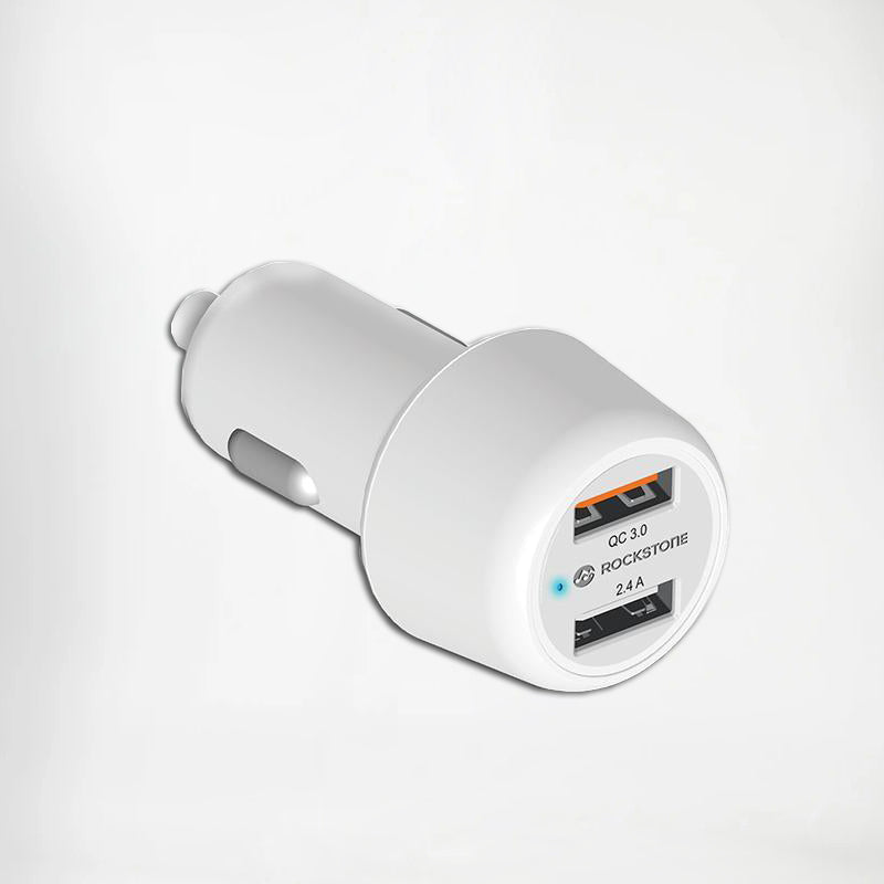 J3 Fast Car Charger | Dual Usb Port | QC3.0 + 2.4A | Car Phone Charger