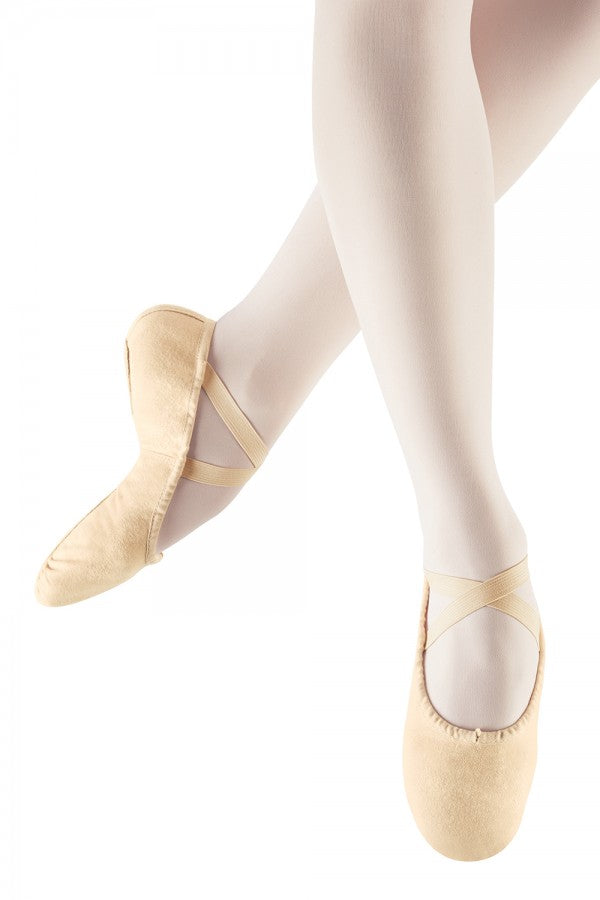 Leo LS2305L - Split sole canvas ballet shoe in pink - Strictly Dancing