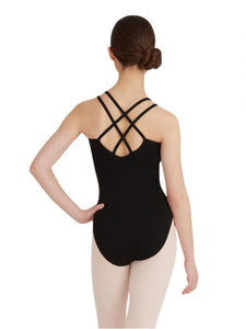 Capezio CC123 Double Strap Camisole Leotard - Black - Strictly Dancing