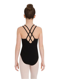 Capezio CC123C - Double Strap Camisole Leotard - Black - Strictly Dancing
