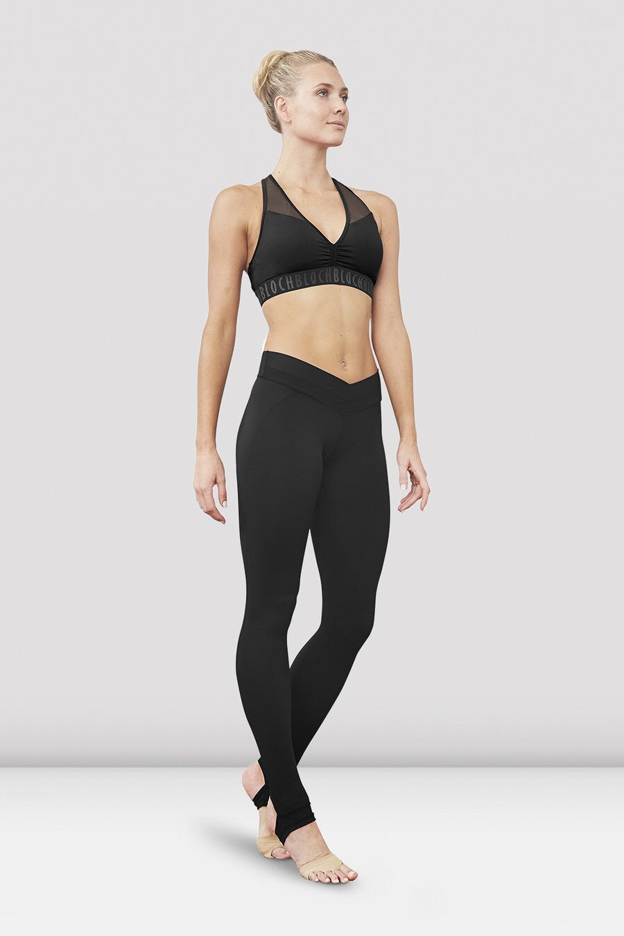 Bloch ladies Aalia Elastic Racer Back Crop Top FT5142 - Strictly Dancing