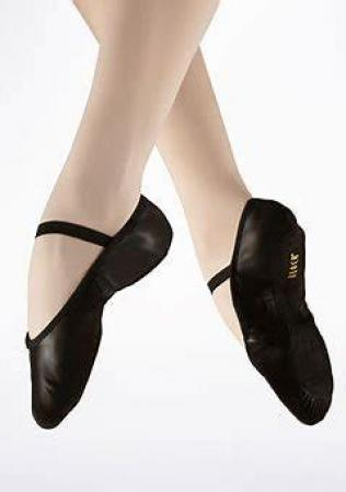 Black full sole ballet pump with elasticated strap Bloch