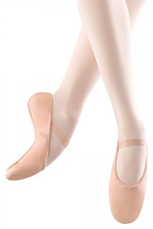 block arise full sole ballet pump in pink with single elasticated strap