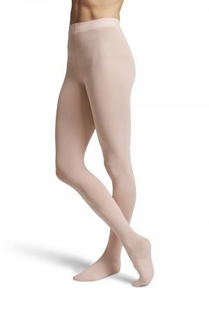 Bloch Contoursoft T0981L Ladies Footed Tights - Pink - Strictly Dancing