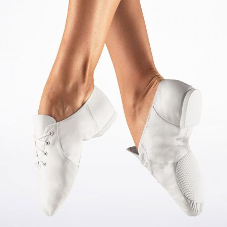 Bloch S0405L Adults White split sole leather jazz shoes - Strictly Dancing