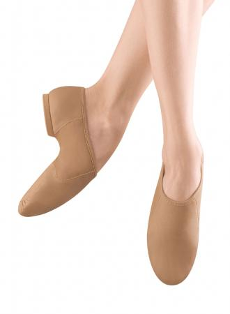 Bloch S0495G Neo-Flex Slip on Girls Jazz Shoes Tan - Strictly Dancing