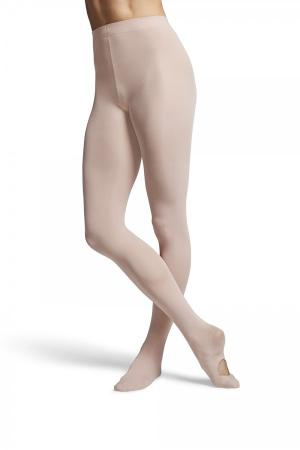 Bloch T0982G Children's Convertible Dance Tights - Pink - Strictly Dancing