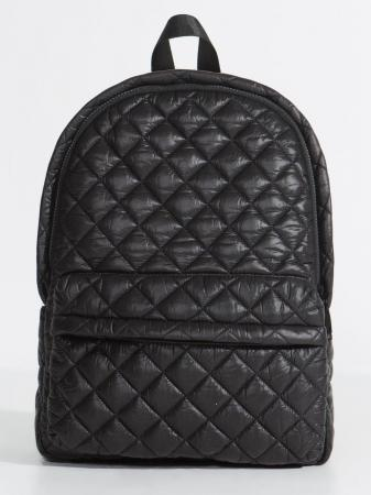 Capezio black quilted effect black backpack with zip front pocket