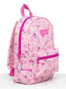 Light pink Capezio bunnies dance backpack with single front pocket