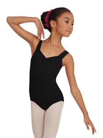 Capezio TC0001C Girls Wide Strap Leotard - Black - Strictly Dancing