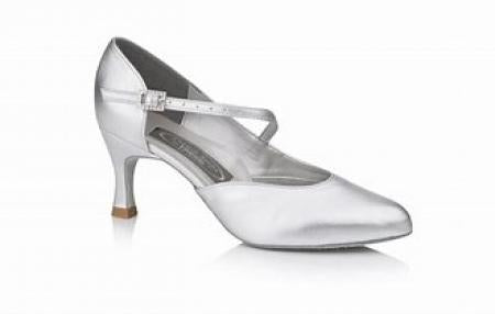 Freed Foxtrot Women's Dance Shoes 2.5 Inch Heel - Silver - Strictly Dancing