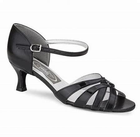 Freed Waltz Women's Dance Shoes 2 Inch Heel - Black PU - Strictly Dancing