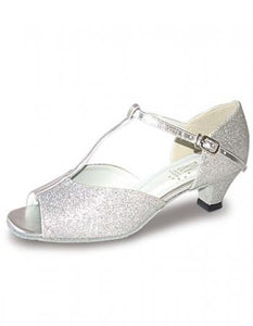 Roch Valley Aduo Ballroom dance Shoes 1.5 Inch Spanish Heel - Silver - Strictly Dancing
