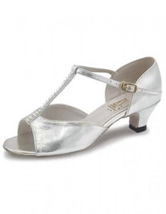Roch Valley Lara 1.2 Inch Spanish Heel Ballroom shoes - Silver - Strictly Dancing