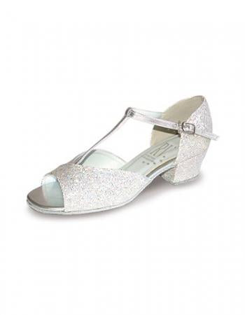 Roch Valley Stacey Low Heel Ballroom Shoes - Silver - Strictly Dancing