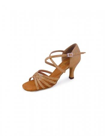 Roch Valley Thalia Ladies Dance Shoes - Tan/Gold - Strictly Dancing
