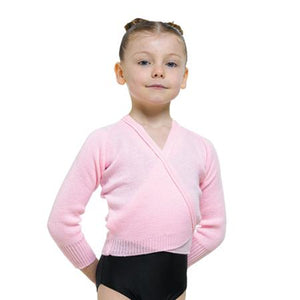Tappers and Pointers Children's Knitted Crossover Cardigan in Acrylic - Pink/Grape/Lilac - Strictly Dancing